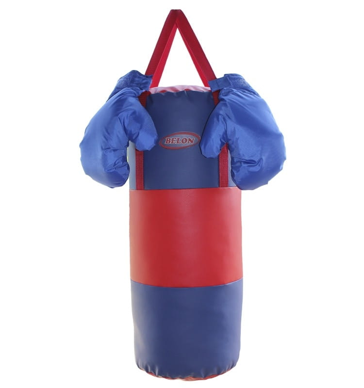 Набор для бокса BELON Груша и перчатки (сине-красный) - Детские тренажеры