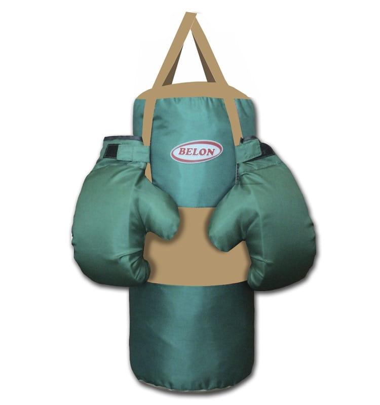 Набор для бокса BELON Груша большая и перчатки (бирюзовый) - Детские тренажеры