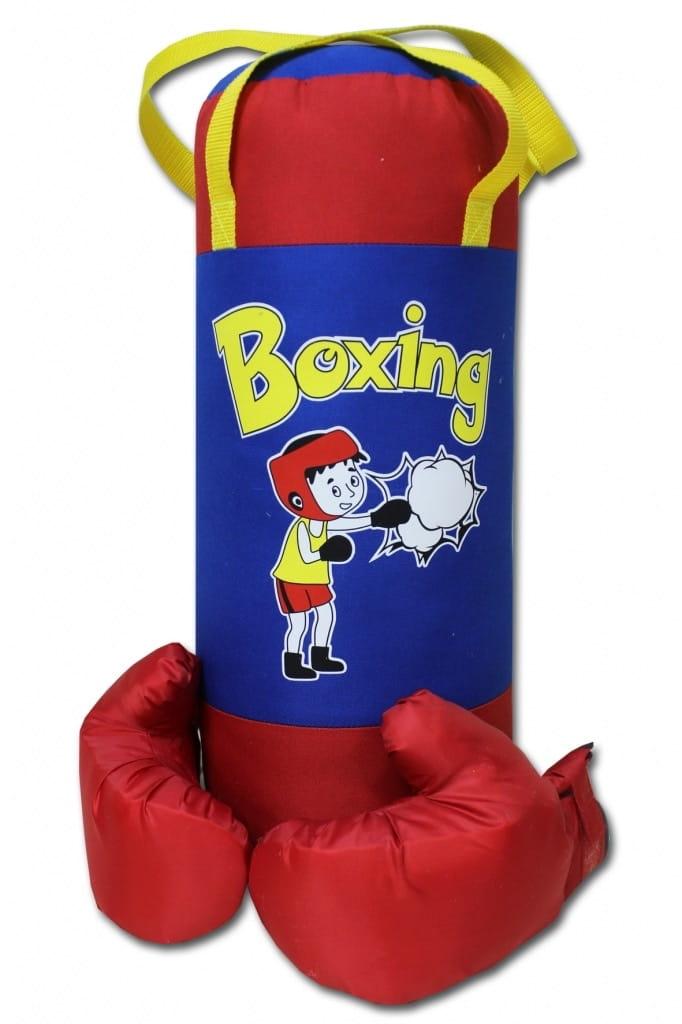 Набор для бокса BELON Груша и перчатки Boxing (красно-синий) - Детские тренажеры