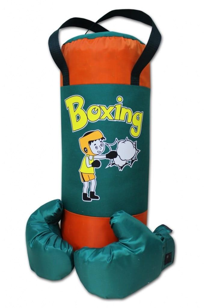 Набор для бокса BELON Груша и перчатки Boxing (зелено-оранжевый) - Детские тренажеры