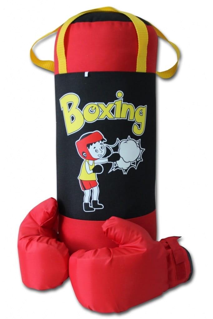 Набор для бокса BELON Груша и перчатки Boxing (красно-черный) - Детские тренажеры