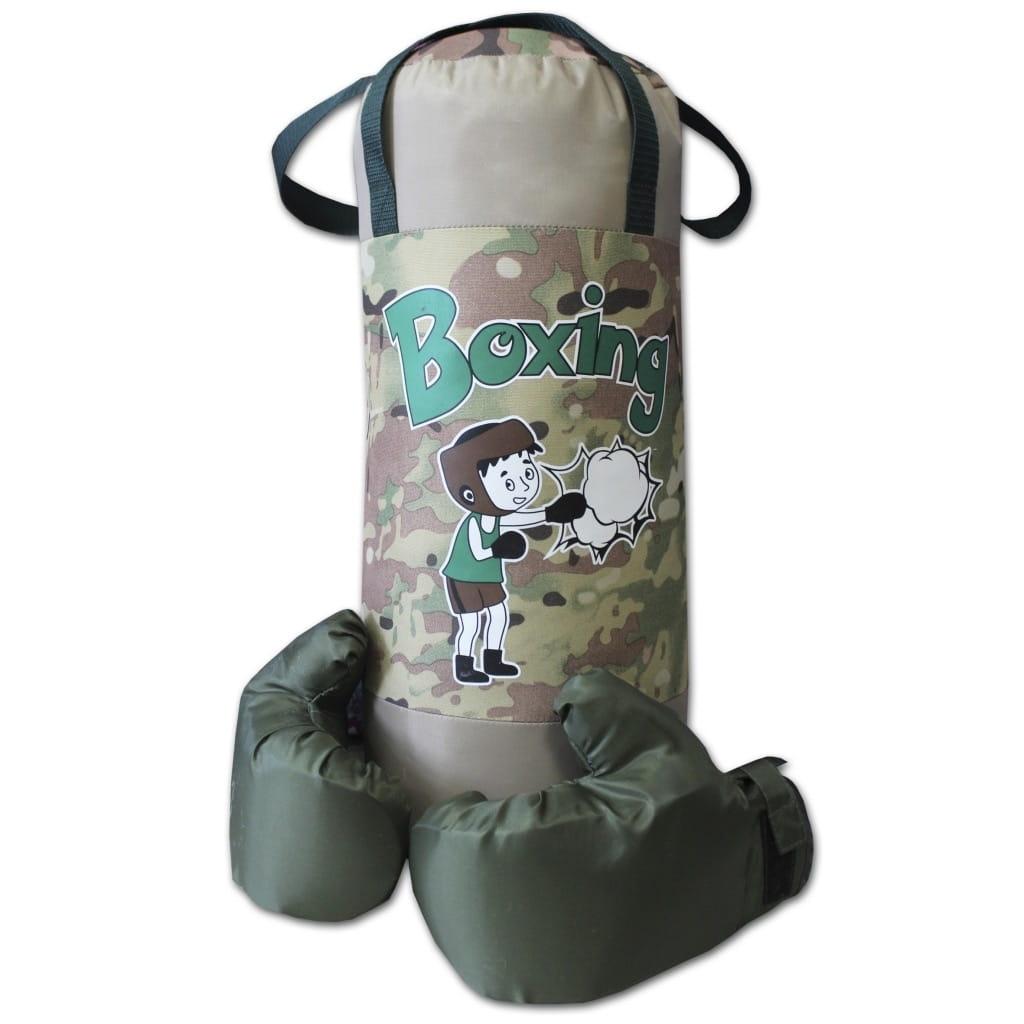 Набор для бокса BELON Груша и перчатки Boxing (серый-хаки) - Детские тренажеры