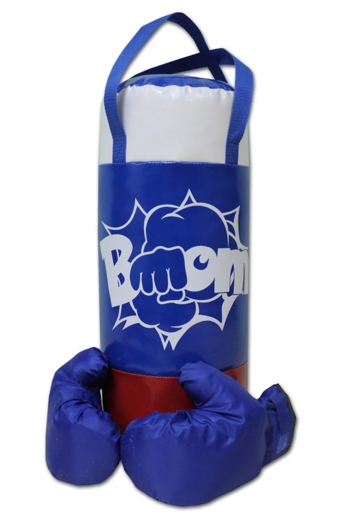 Набор для бокса BELON Груша и перчатки Boom (триколор) - Детские тренажеры