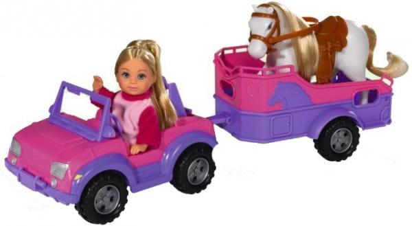 Игровой набор Evi Еви с трейлером и лошадкой (Simba)