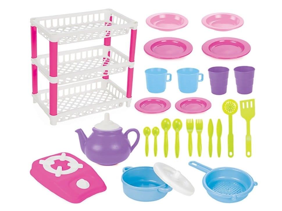 Набор посуды PILSAN Kitchen  3 уровня - Все для юной хозяйки