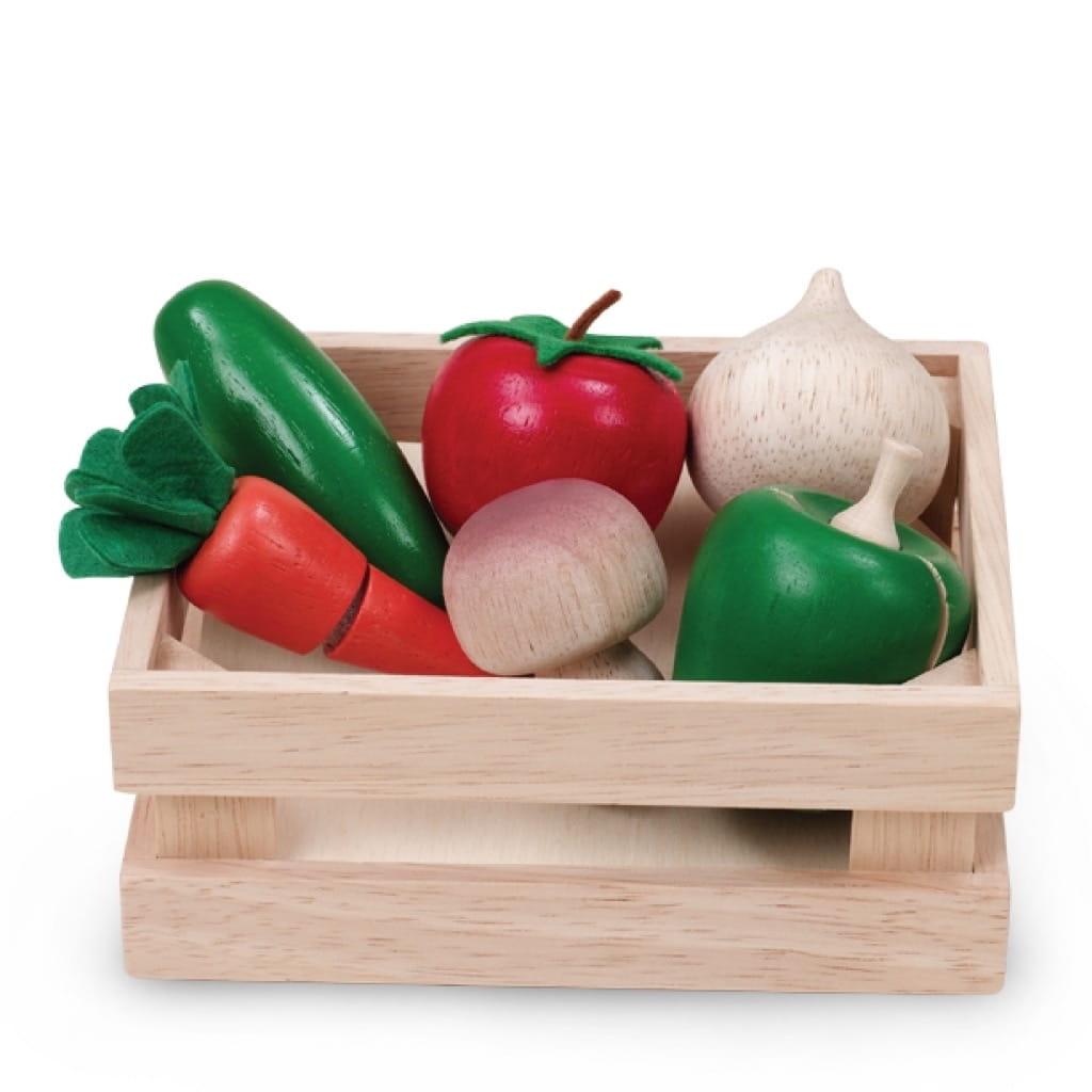 Игровой набор WONDERWORLD Овощи и грибы для нарезки (в ящике) - Все для юной хозяйки
