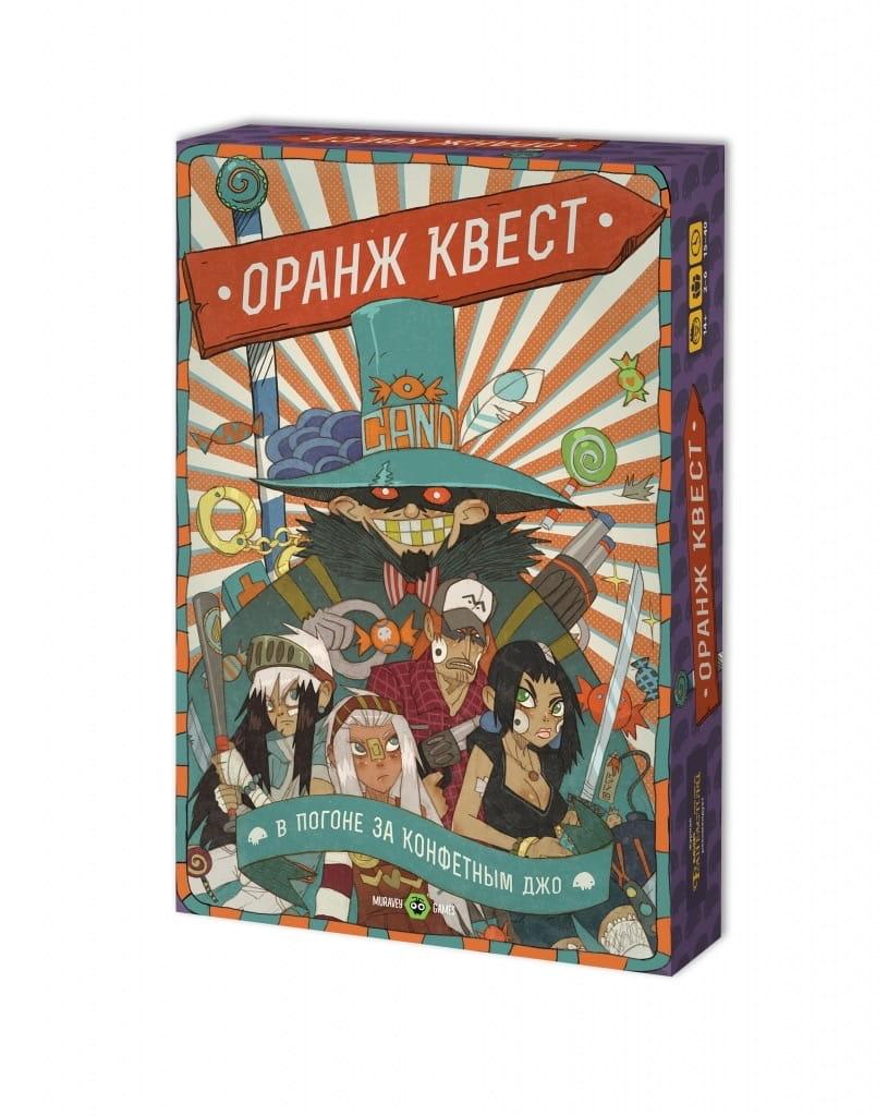 Настольная игра MURAVEY GAMES Оранж Квест  В погоне за Конфетным Джо - Карточные игры