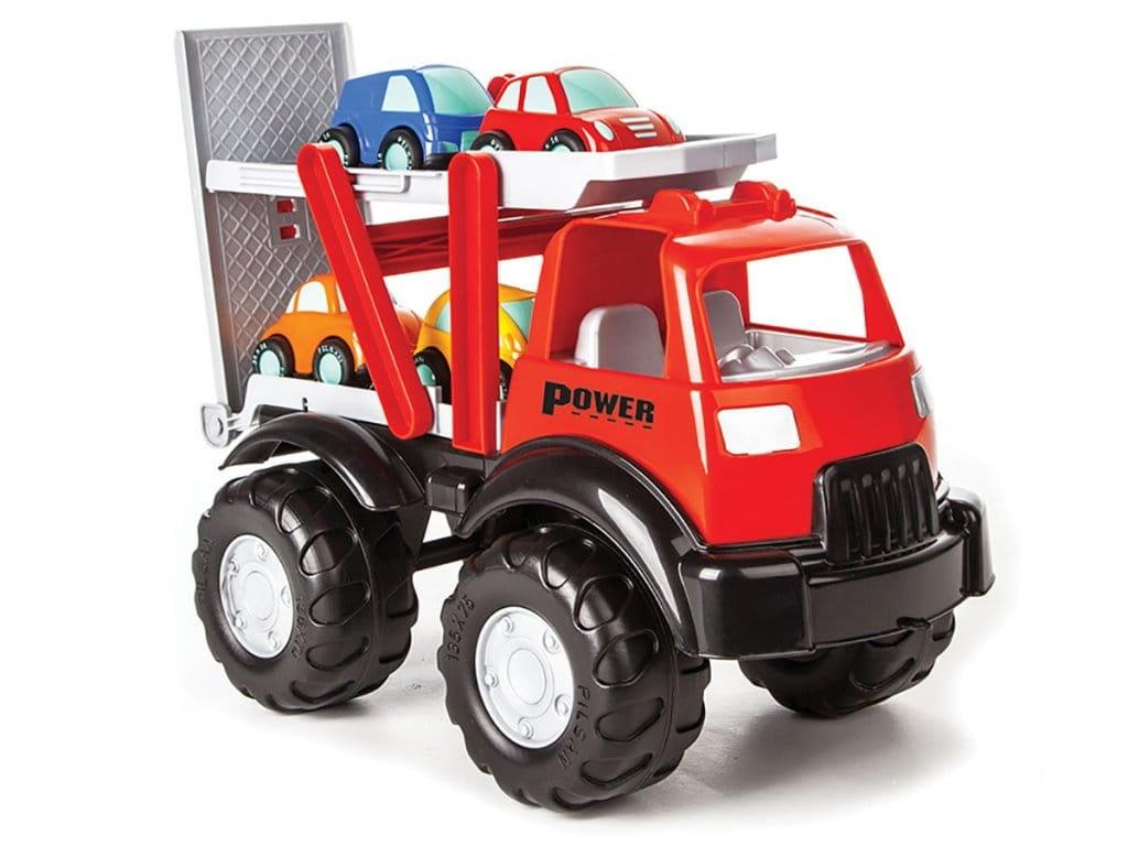 Грузовик-автовоз PILSAN Power Truck (3 машинки)