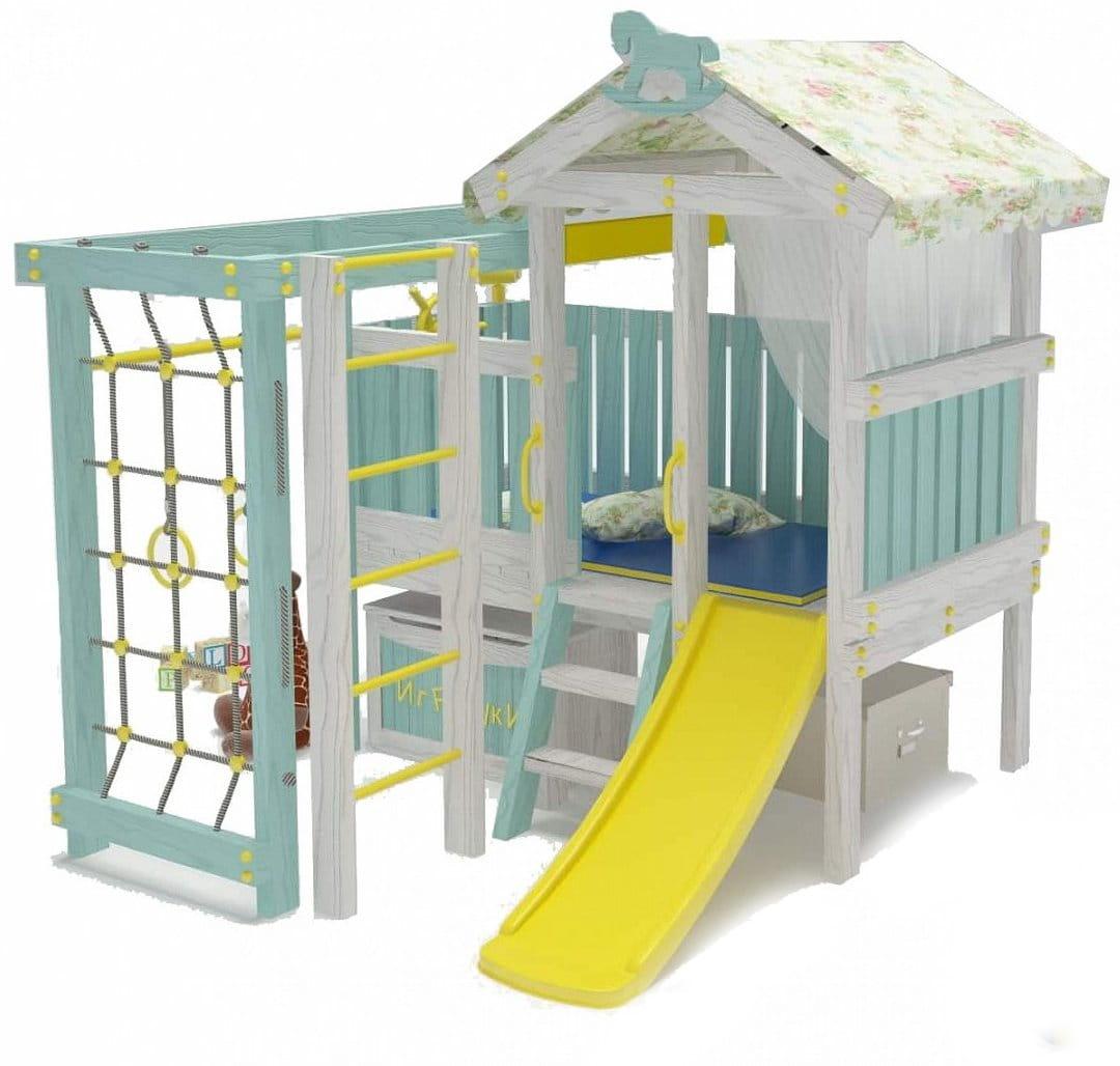 Игровой комплекс для дома HOTENOK Домик со спальным местом (версия 1) - Детская мебель