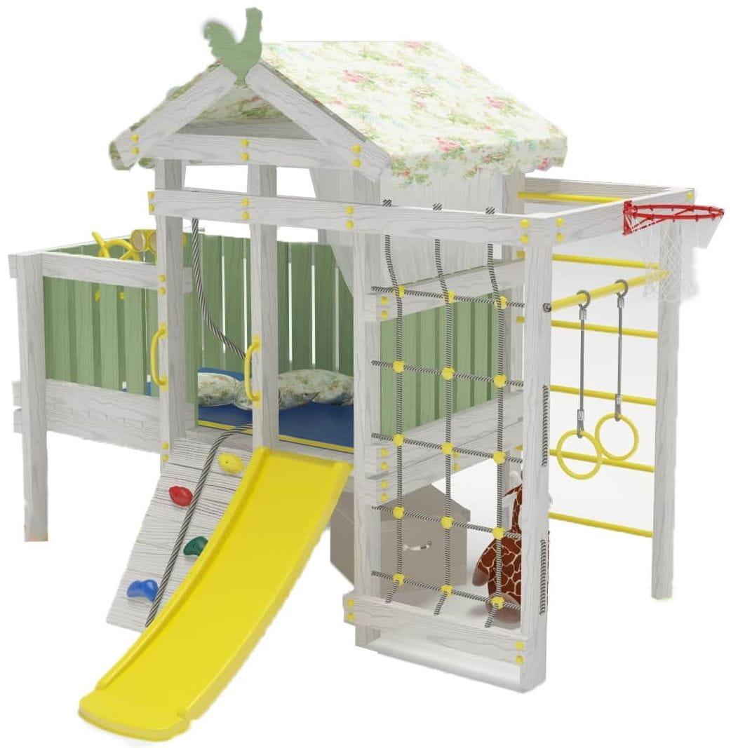 Игровой комплекс для дома HOTENOK Домик со спальным местом 10 в 1 (версия 3) - Детская мебель