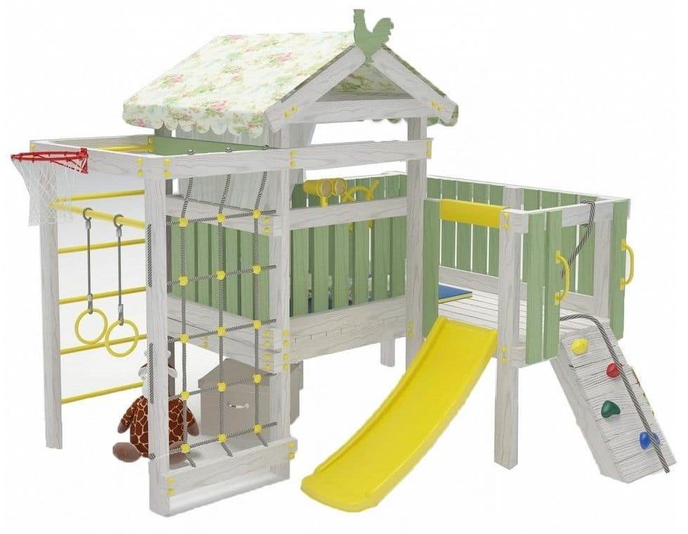 Угловой игровой комплекс-кровать HOTENOK 10 в 1 - Детская мебель