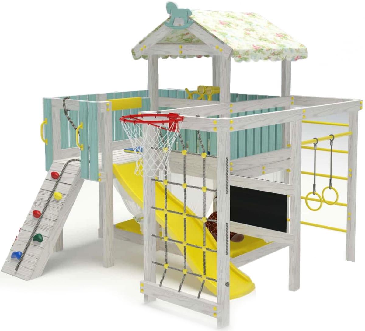 Угловой игровой комплекс-кровать HOTENOK 12 в 1 - Детская мебель