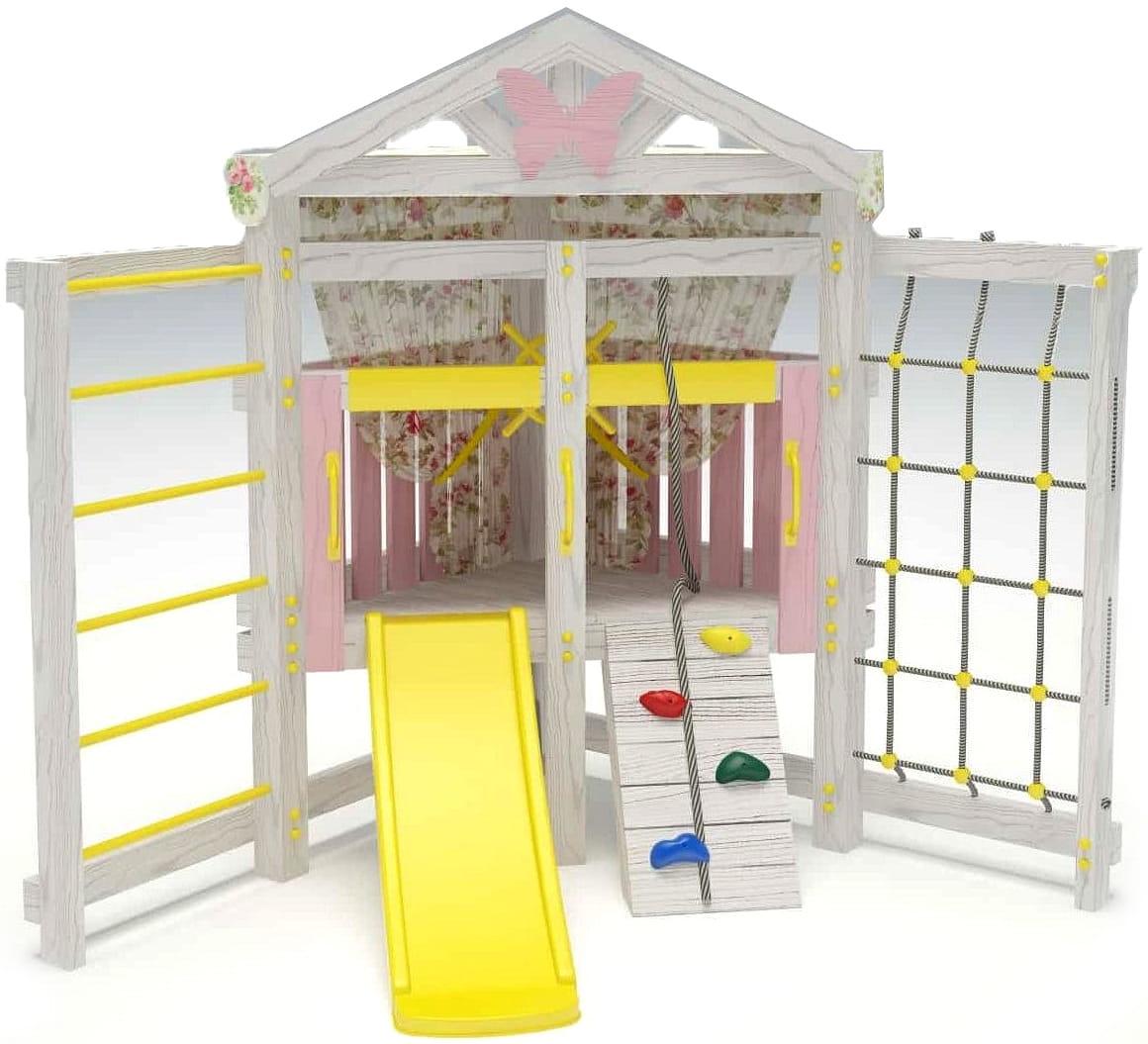Угловой игровой комплекс для дома HOTENOK 6 в 1 - Детские тренажеры
