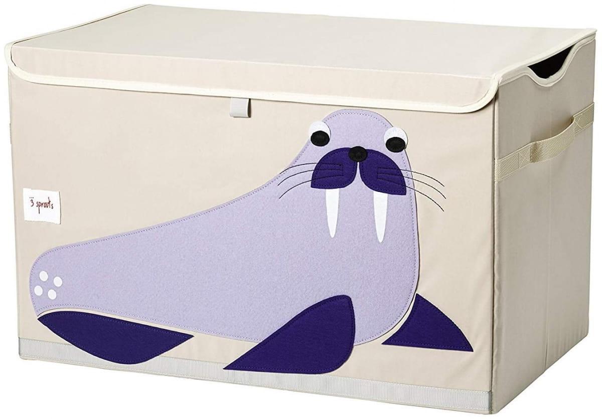 Сундук для хранения игрушек 3 SPROUTS Синий морж Blue Walrus - Детская мебель