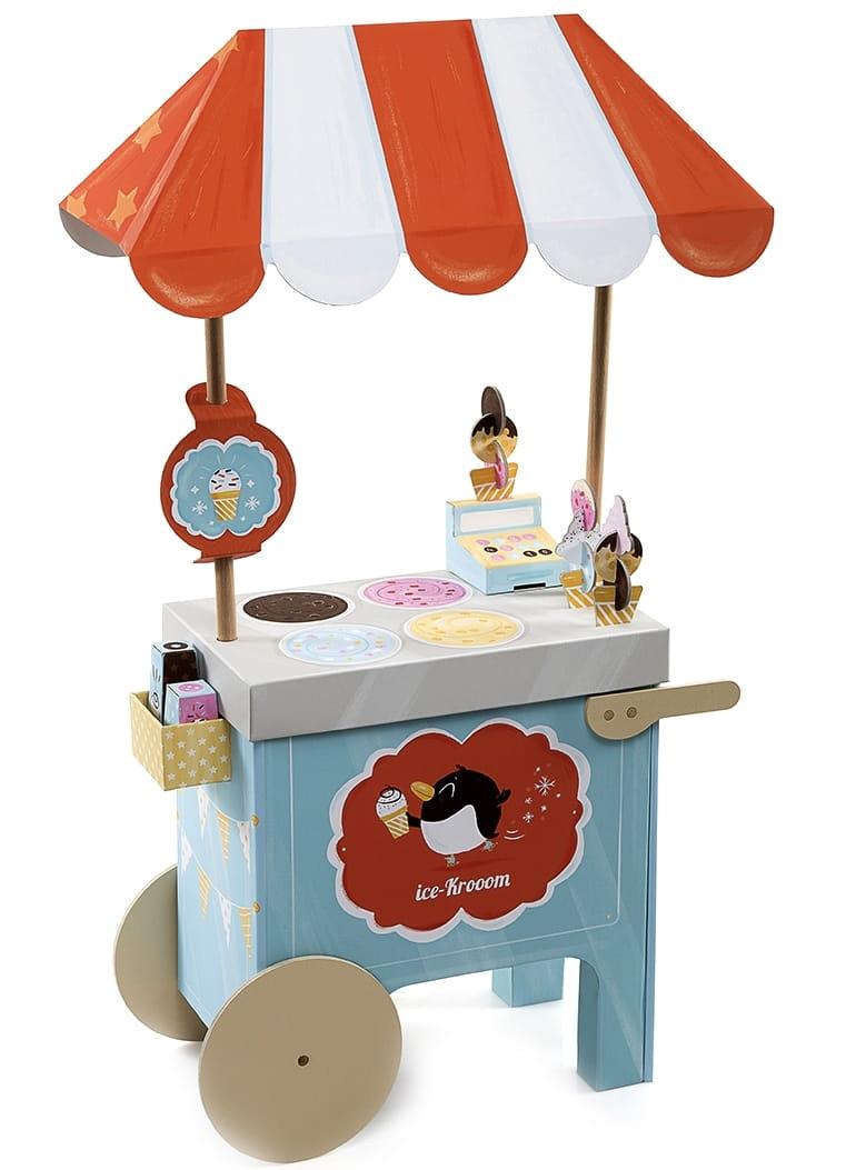 Тележка с мороженым KROOOM из картона - Магазины и супермаркеты