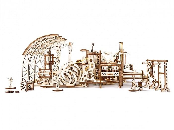 Механический деревянный 3D конструктор UGEARS Фабрика роботов - Деревянные конструкторы
