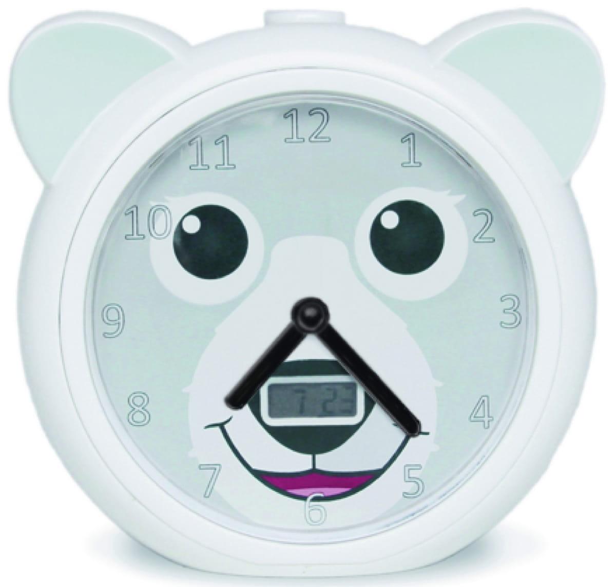 Часы-будильник ZAZU Медвежонок Бобби  белый - Электроника для детей