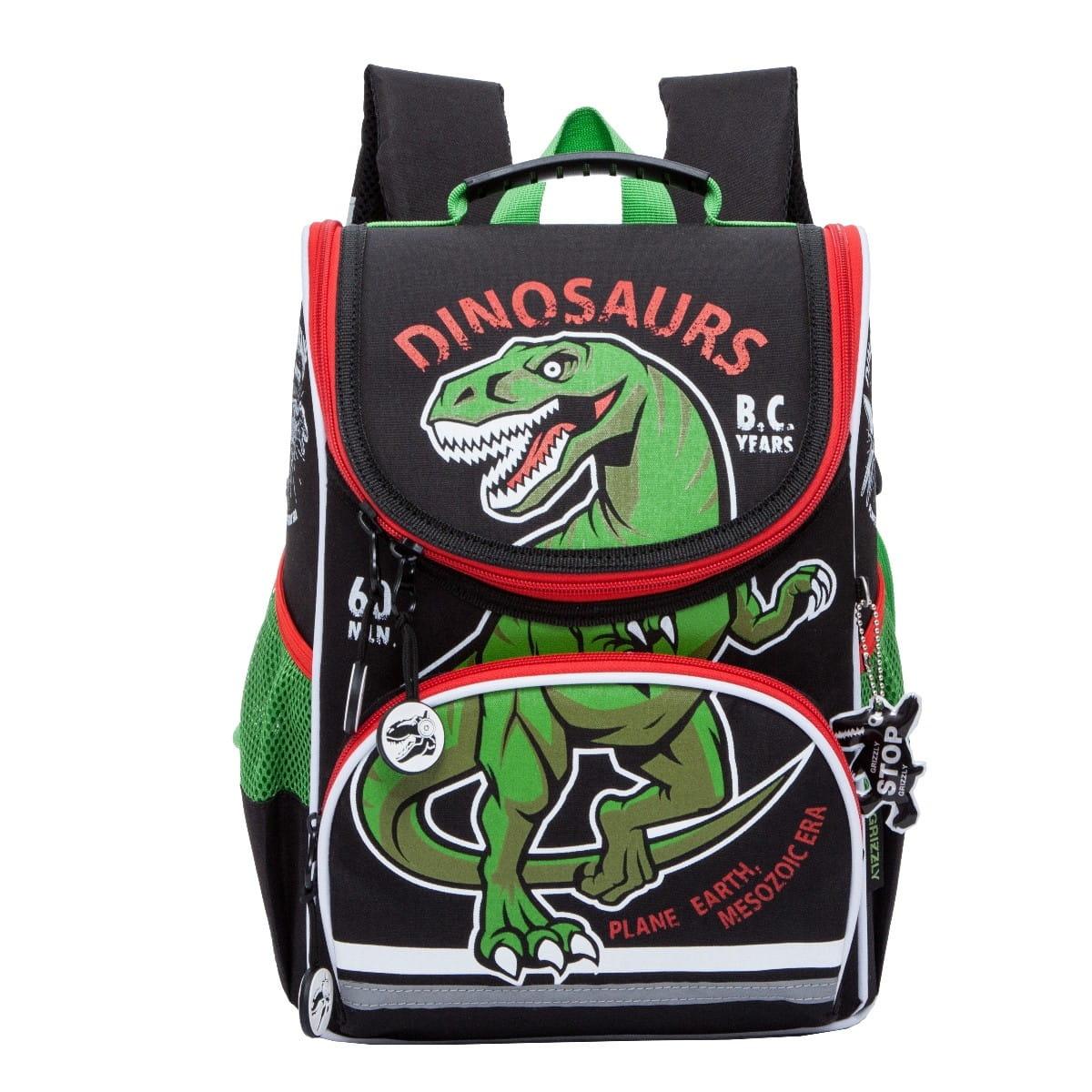Рюкзак GRIZZLY Динозавр 2  черный - Рюкзаки и ранцы