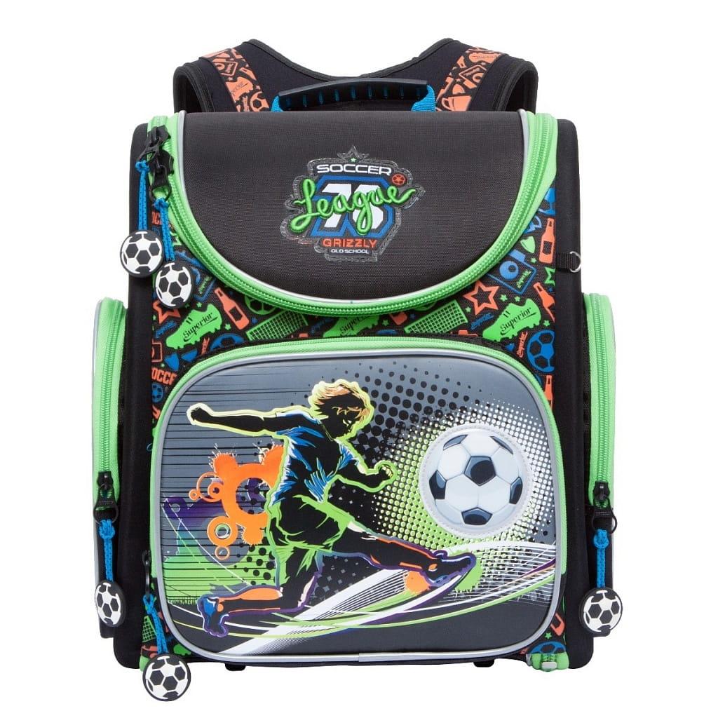 Рюкзак GRIZZLY Футбол  черный - Рюкзаки и ранцы