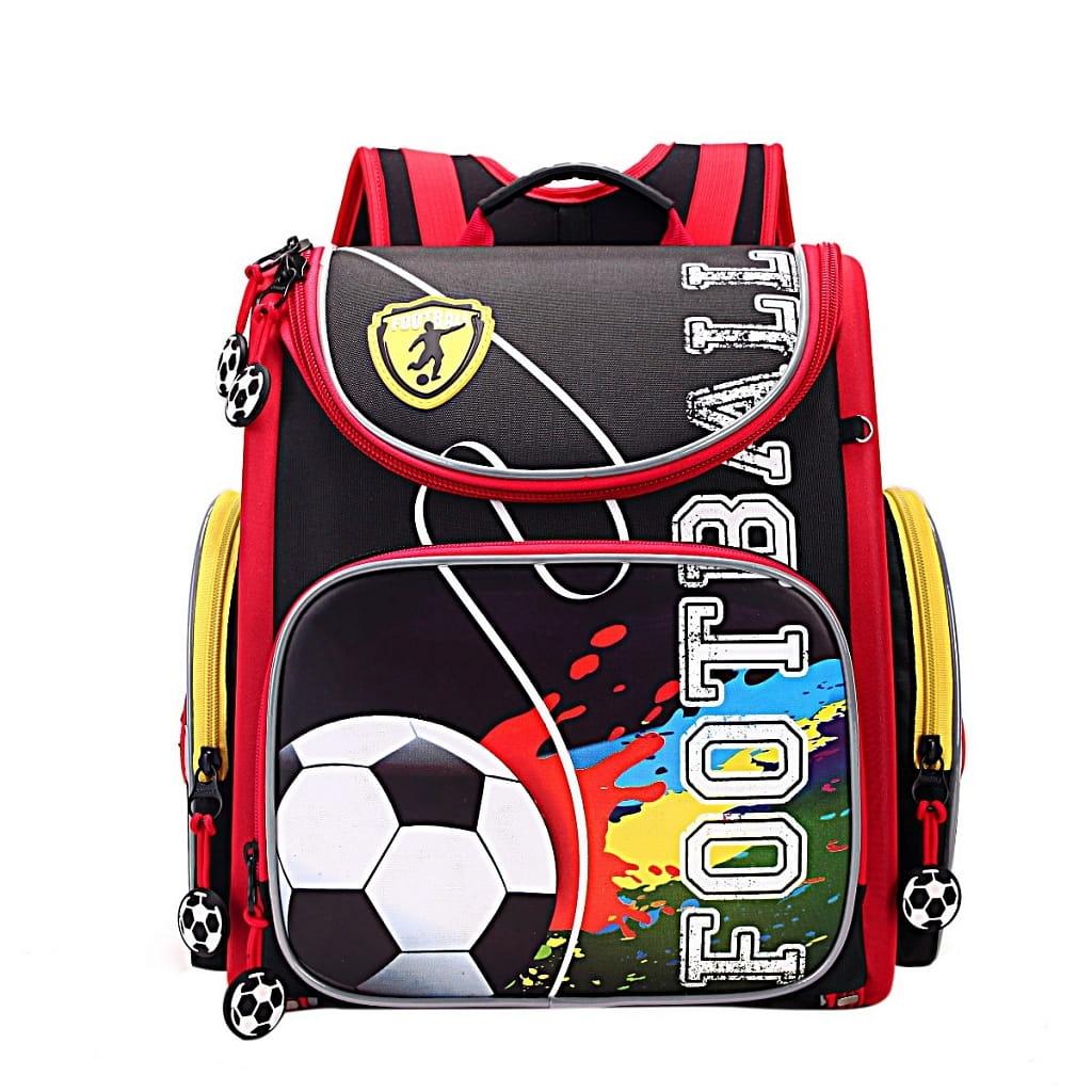 Рюкзак GRIZZLY Футбол  черно-красный (с мешком для обуви) - Рюкзаки и ранцы