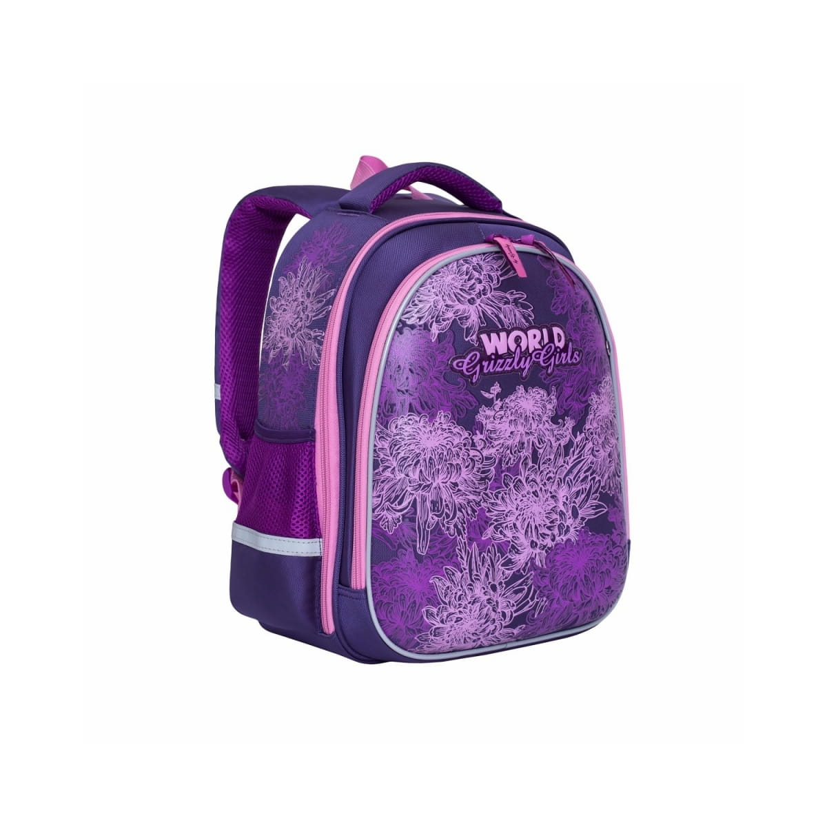 Рюкзак GRIZZLY Цветы  фиолетовый - Рюкзаки и ранцы