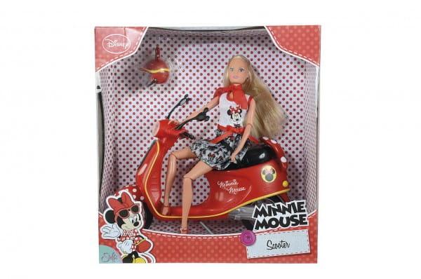 Кукла Steffi Штеффи Minnie Mouse на мопеде (Simba)