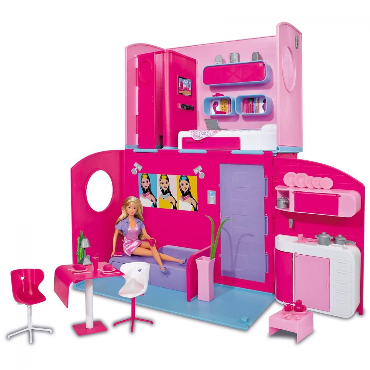 Кукла Steffi Штеффи в двухэтажном доме (Simba)