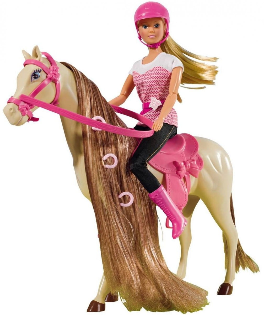 Кукла Steffi Штеффи верхом на лошади (Simba)