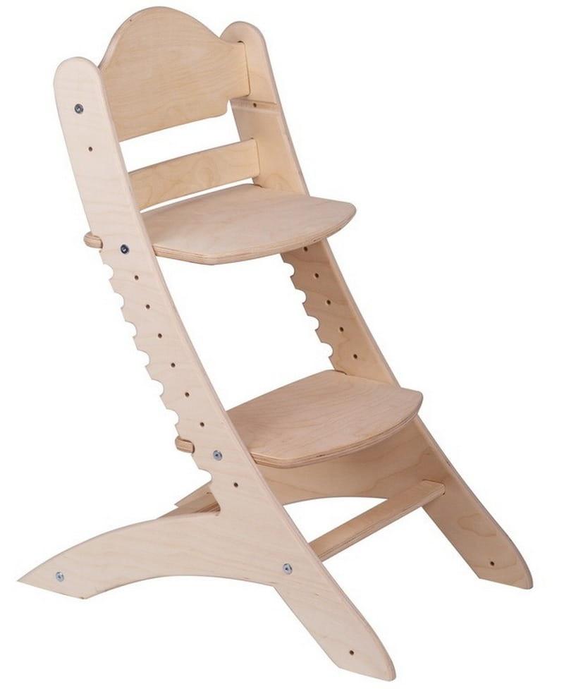 Детский растущий стул ДВА КОТА  нешлифованный - Детская мебель