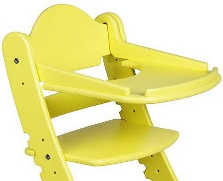 Столик для растущего стула ДВА КОТА  желтый - Детская мебель