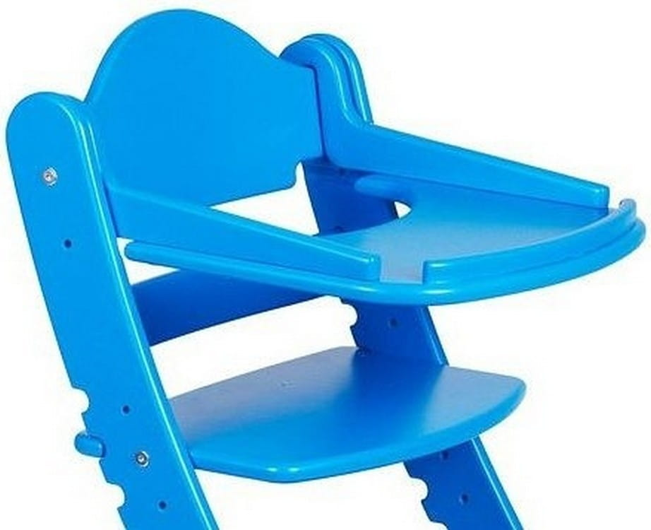 Столик для растущего стула ДВА КОТА  синий - Детская мебель