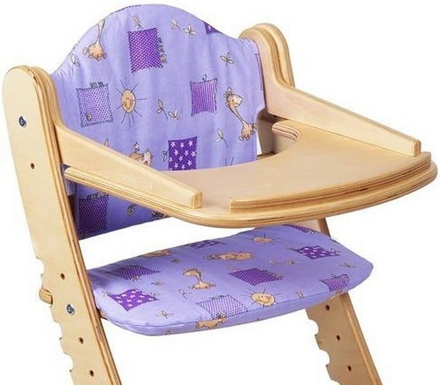 Комплект подушек для растущего стула ДВА КОТА  фиолетовый - Детская мебель