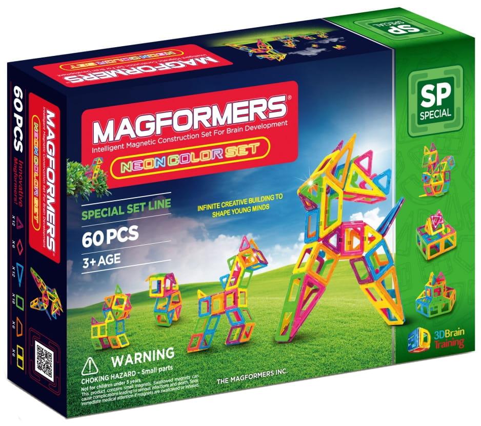 Магнитный конструктор Magformers 703003 (63110) Neon Color Set 60
