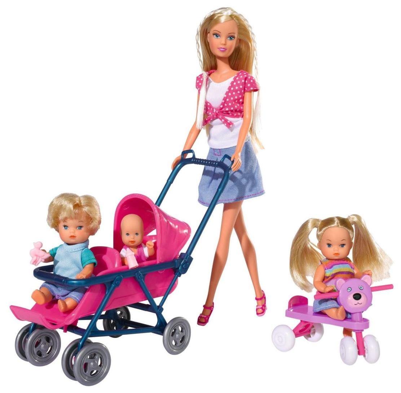 Кукла Steffi Штеффи с детьми (Simba)