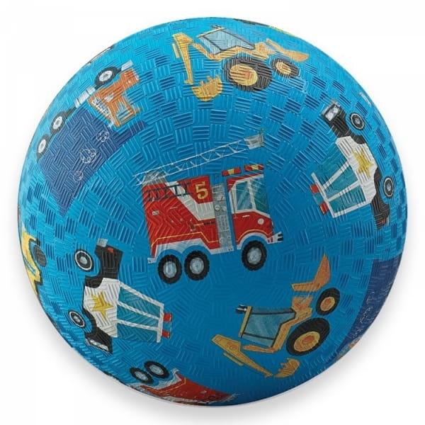Мяч CROCODILE CREEK Машинки  синий (18 см) - Игры на природе
