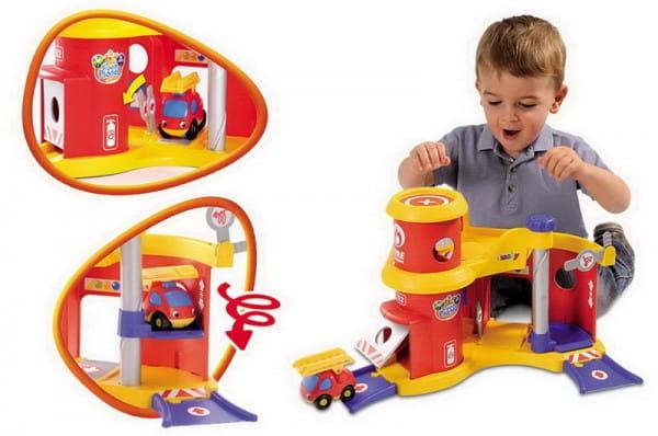 Купить Трек Vroom Planet Пожарная станция (Smoby) в интернет магазине игрушек и детских товаров