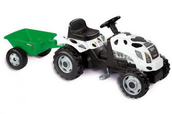 Купить Трактор GM Thme Vache педальный с прицепом (Smoby) в интернет магазине игрушек и детских товаров