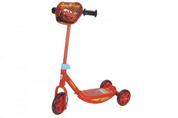 Купить Детский Самокат 3-х колесный Smoby Тачки Cars в интернет магазине игрушек и детских товаров