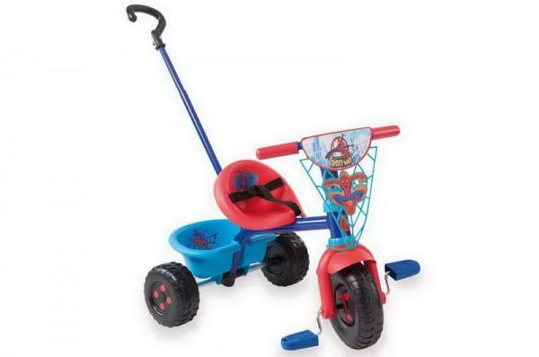 Купить Детский трехколесный велосипед Be Fun Человек-паук (Smoby) в интернет магазине игрушек и детских товаров