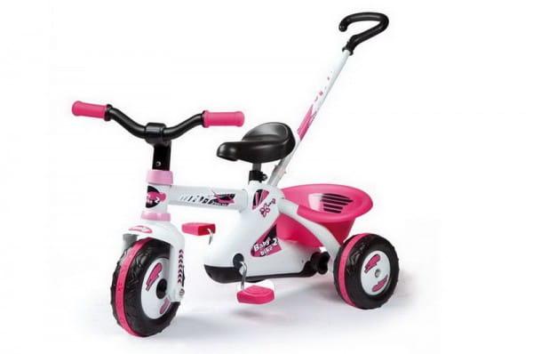 Купить Детский трехколесный велосипед First Bike Sport Line Girl (Smoby) в интернет магазине игрушек и детских товаров