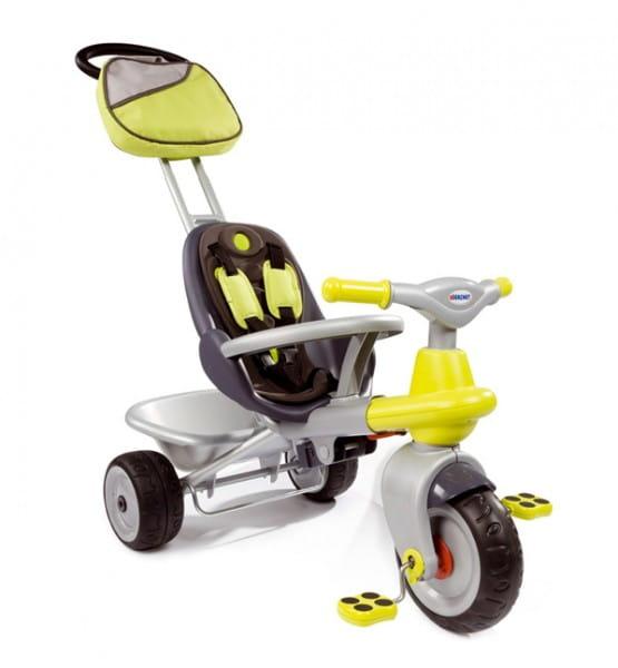 Купить Детский трехколесный велосипед Smoby с сумкой в интернет магазине игрушек и детских товаров