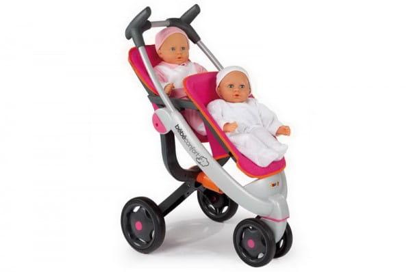 Купить Прогулочная коляска Quinny для 2 кукол (Smoby) в интернет магазине игрушек и детских товаров