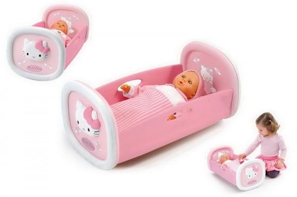 Купить Колыбель Smoby Hello Kitty в интернет магазине игрушек и детских товаров