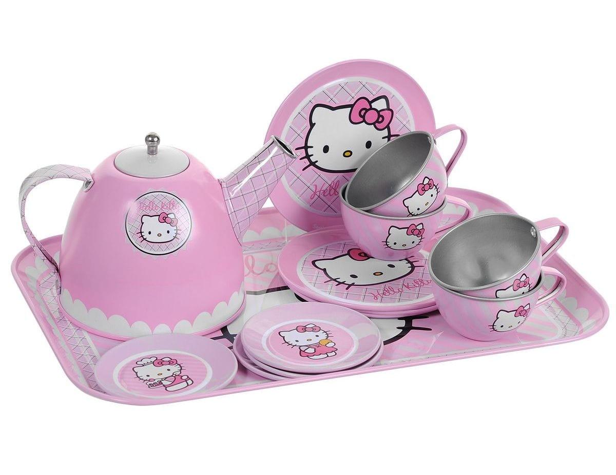 Набор посудки Smoby 24783 Hello Kitty металлический