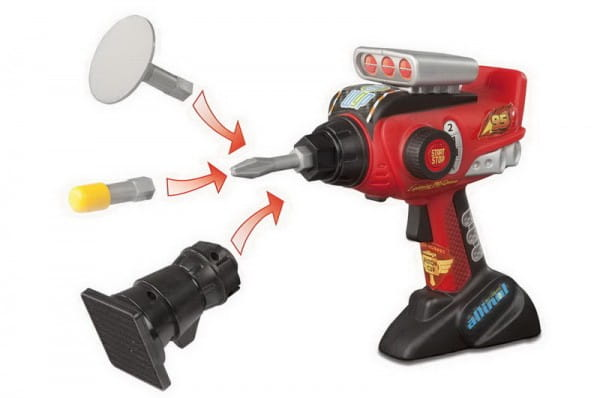 Электронный шуруповерт с насадками Тачки 2 Cars 2 (Smoby)