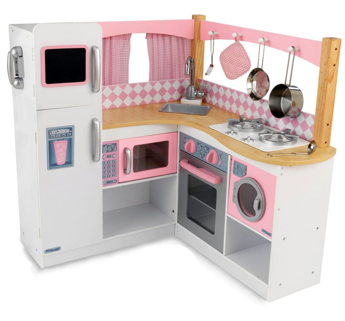Большая угловая детская кухня KIDKRAFT Изысканный уголок Grand Gourmet Corner Kitchen