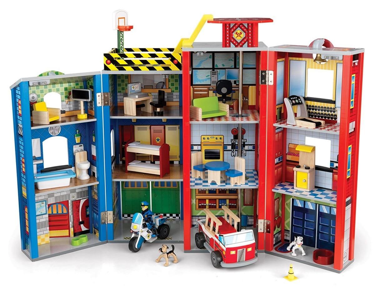 Игровой набор для мальчиков KIDKRAFT Здание спасательной службы Everyday Heroes Wooden Play Set