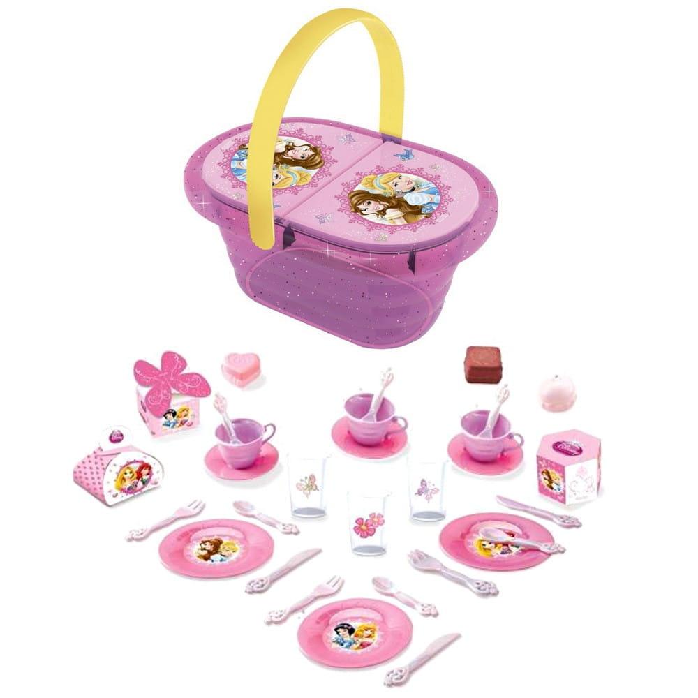 Набор посудки в корзинке Smoby 24034 Пикник Принцессы Диснея