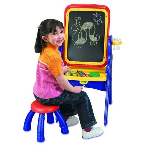 Купить Парта-мольберт Crayola с табуреточкой в интернет магазине игрушек и детских товаров