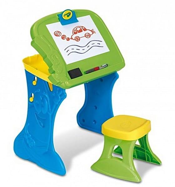 Купить Парта-мольберт Crayola с табуреточкой - зеленая в интернет магазине игрушек и детских товаров